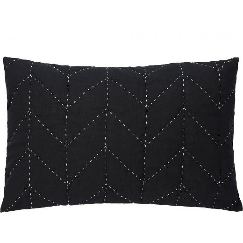 a simple mess kissenh lle molly schwarz aus baumwolle mit steppn hten in creme wei gr e. Black Bedroom Furniture Sets. Home Design Ideas