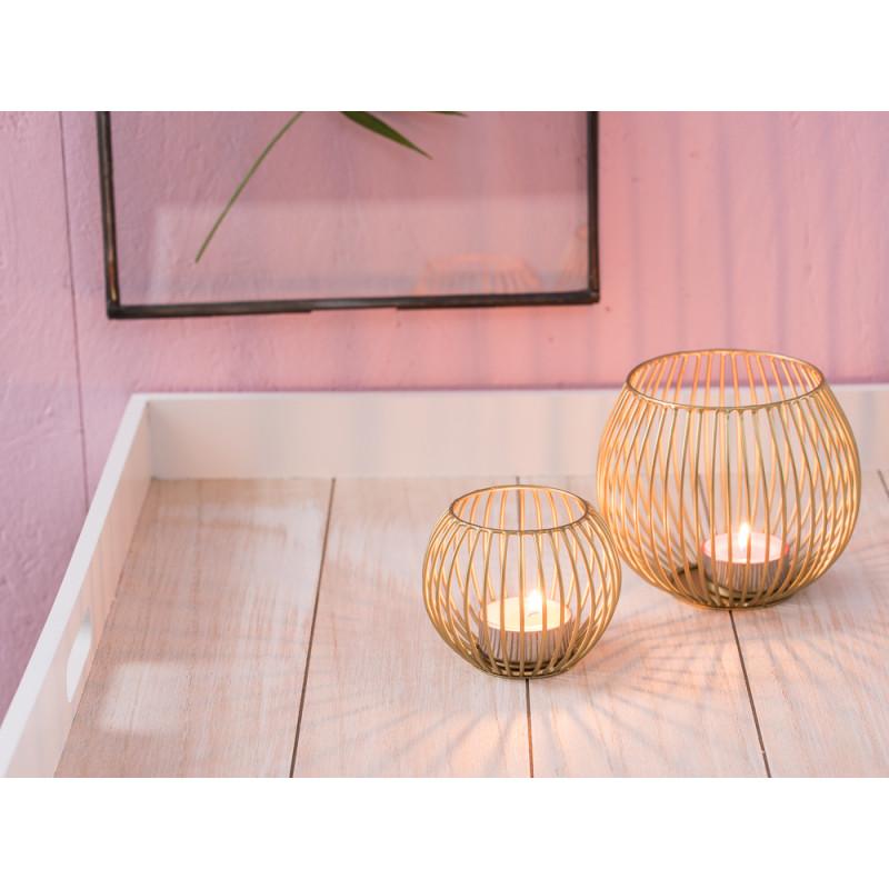 a simple mess teelichthalter elisa f r 1 teelicht gold farbig mit streben runde form aus. Black Bedroom Furniture Sets. Home Design Ideas