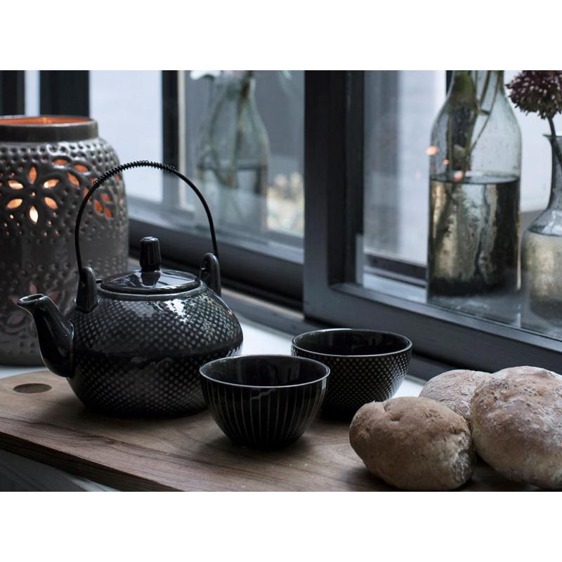 teetasse asia anthrazit streifen a simple mess d nemark. Black Bedroom Furniture Sets. Home Design Ideas