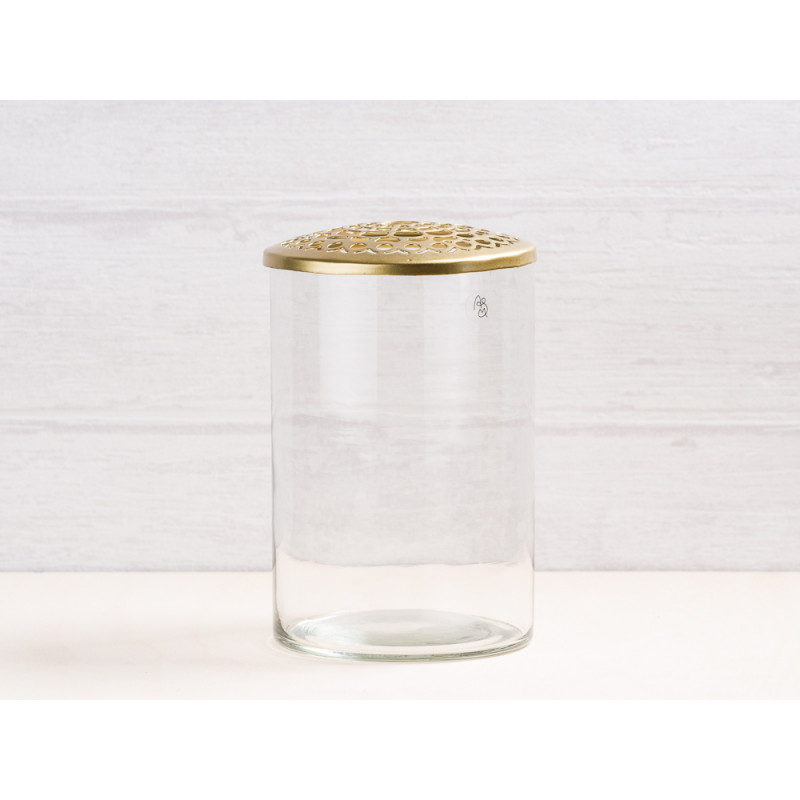 vase kassandra aus glas mit deckel a simple mess. Black Bedroom Furniture Sets. Home Design Ideas