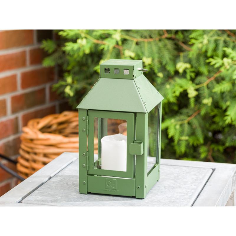 A2 Living Allwetter Laterne Micro Grün wetterfeste Outdoor Laterne verzinkt und pulverbeschichtet rostfrei 25 cm hoch skandinavisch schlicht Dekoration