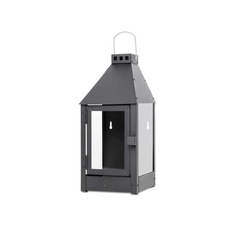 A2 Living Allwetter Wandlaterne Midi schwarz rostfreie Outdoor Laterne verzinkt und pulverbeschichtet 45 cm