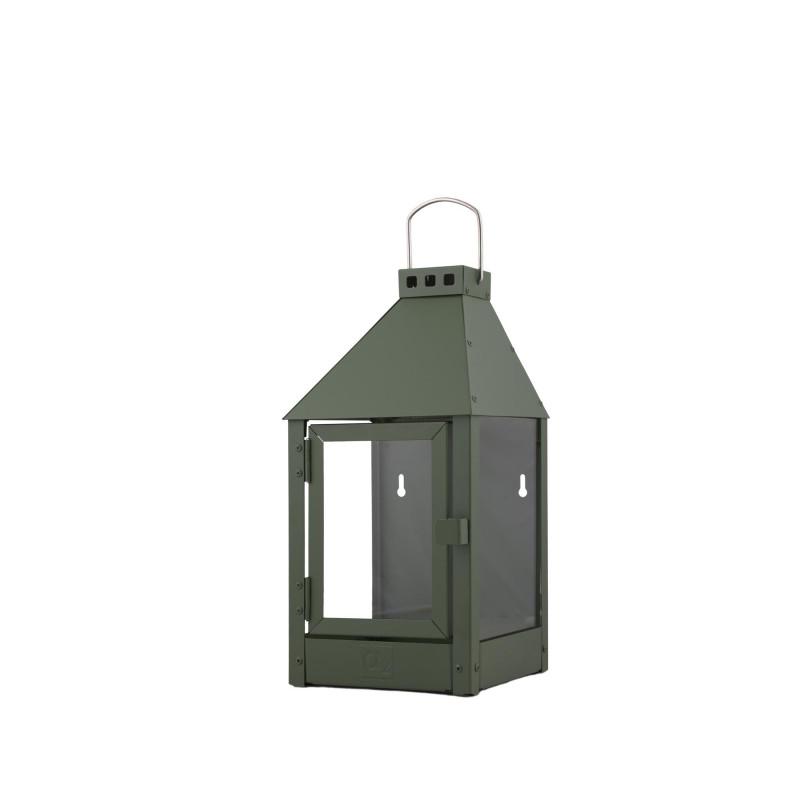 A2 Living Allwetter Wandlaterne Mini grün rostfreie Outdoor Laterne verzinkt und pulverbeschichtet 36 cm
