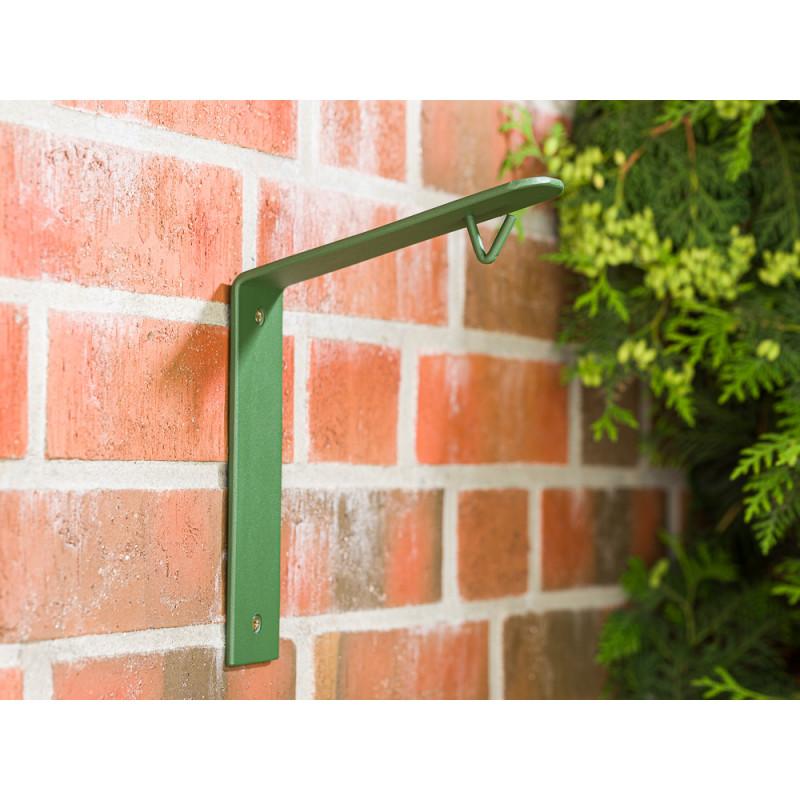 A2 Living Wandhalter Grün für Allwetter Laterne wetterfest verzinkt und pulverbeschichtet rostfrei Vogelhaus Halter mit Haken