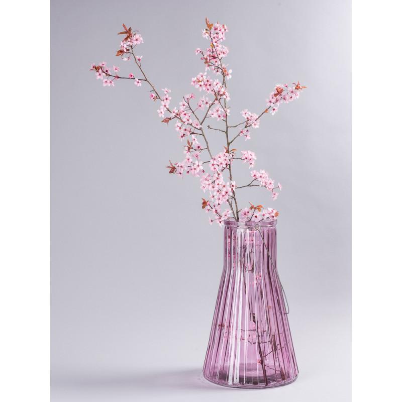 Affari of Sweden Vase Anja rosa groß konische form aus Glas für Blumen mit Zweigen