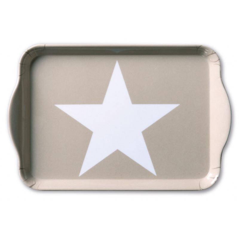 Ambiente Melamin Tablett 13 x 21 cm Star Sand
