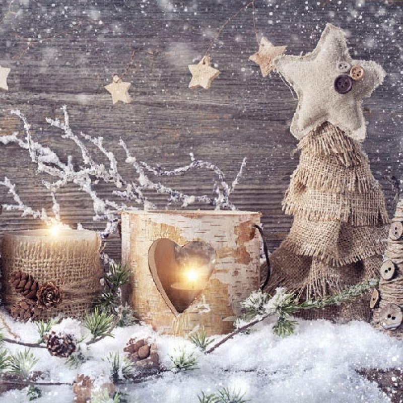 Ambiente Weihnachts Servietten Natural X mas Weihnachten