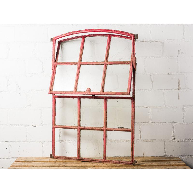 Antikes Stallfenster Kippbar aus Metall mit Rundbogen Deko oder Geschenk zur Hochzeit Unikat auch zum Einbau zu verwenden