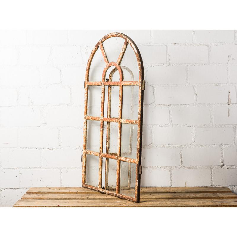 Antikes Stallfenster mit Rundbogen schwere Ausführung Kirchenfenster Vintage Deko oder Geschenk zur Hochzeit Unikat