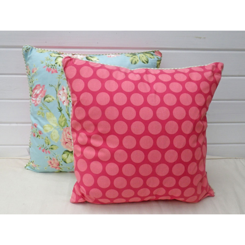 a u maison kissen 50x50 pink aqua wohnhaus welten. Black Bedroom Furniture Sets. Home Design Ideas