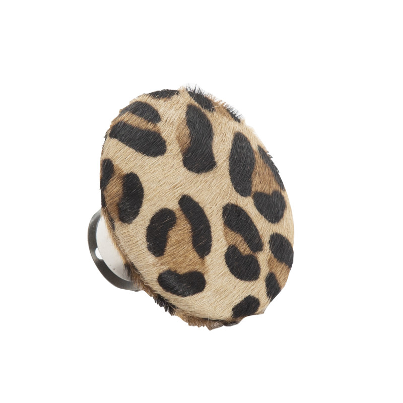 AU Maison Kleiderhaken Leopard Fell Design runder Garderobenhaken Art Deko Stil Leoparden Muster 9 cm