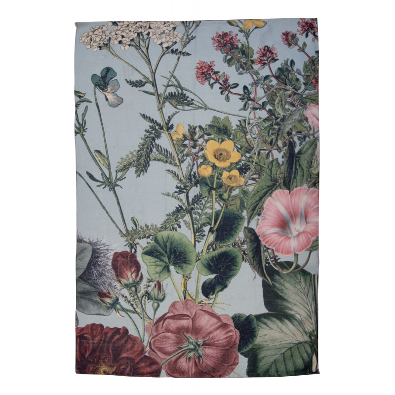 AU Maison Outdoor Teppich Meadow mint grün mit Blumen Badematte 70x140 waschbar witterungsbeständig aus PET recycelt Kunststoff