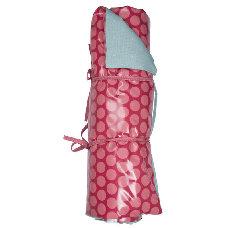AU Maison Picknickdecke Dots pink Punkte türkis Neu 70x180 cm Krabbeldecke wasserdicht