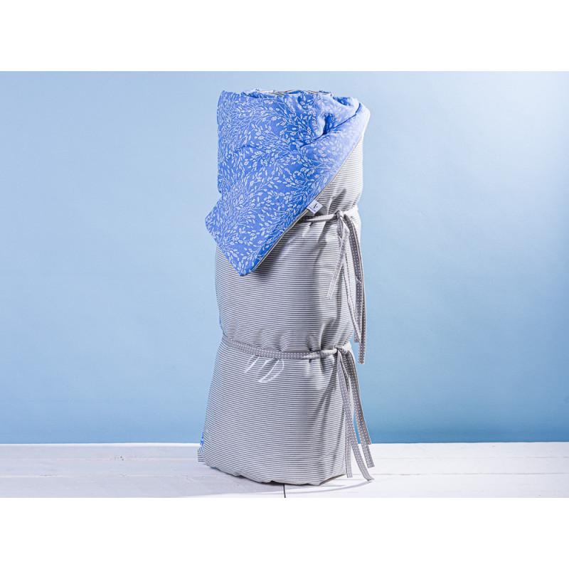 AU Maison Picknickdecke XL Krabbeldecke 140x180 groß Blau Weiß Blumen Streifen Grau Baumwolle Wachstuch Meadows Stripes French Blue Grey wasserabweisend