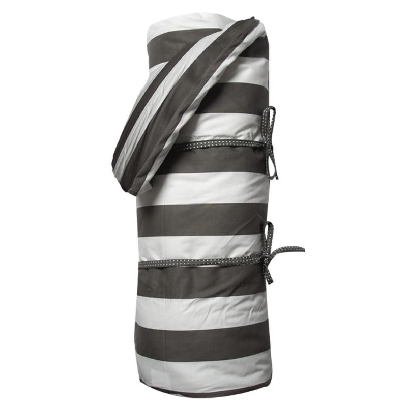 AU Maison Picknickdecke XL Schwarz Weiß Streifen Baumwolle Wachstuch Stripe Giant Almost Black wasserabweisend Krabbeldecke 140x180