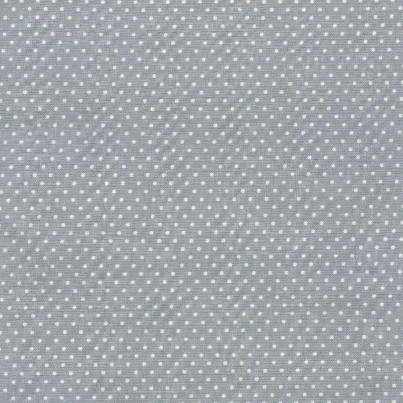 AU Maison Wachstuch Dots Dusty Blue Baumwolle Tischdecke DIY Punkte Staubig Blau 140 cm