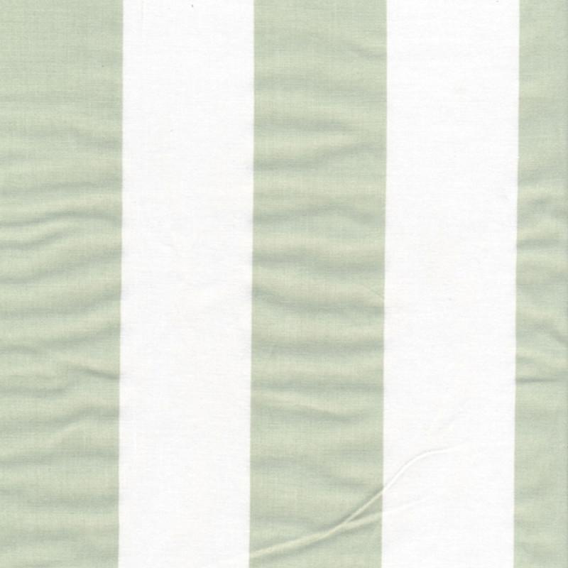 AU Maison Wachstuch Stripe Giant Dusty Mint Tischdecke Stoff Meterware aus Baumwolle Grün Weiß Streifen 140 cm