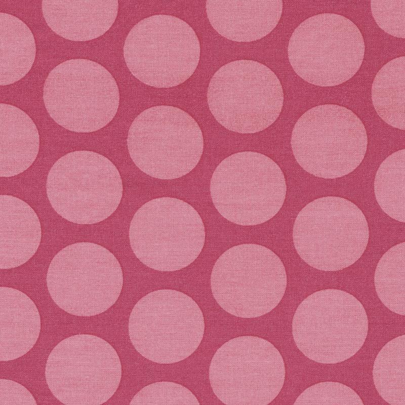 AU Maison Wachstuch Super Dots Raspberry Peachy Pink Tischdecke Stoff Meterware aus Baumwolle Rosa große Punkte 140 cm
