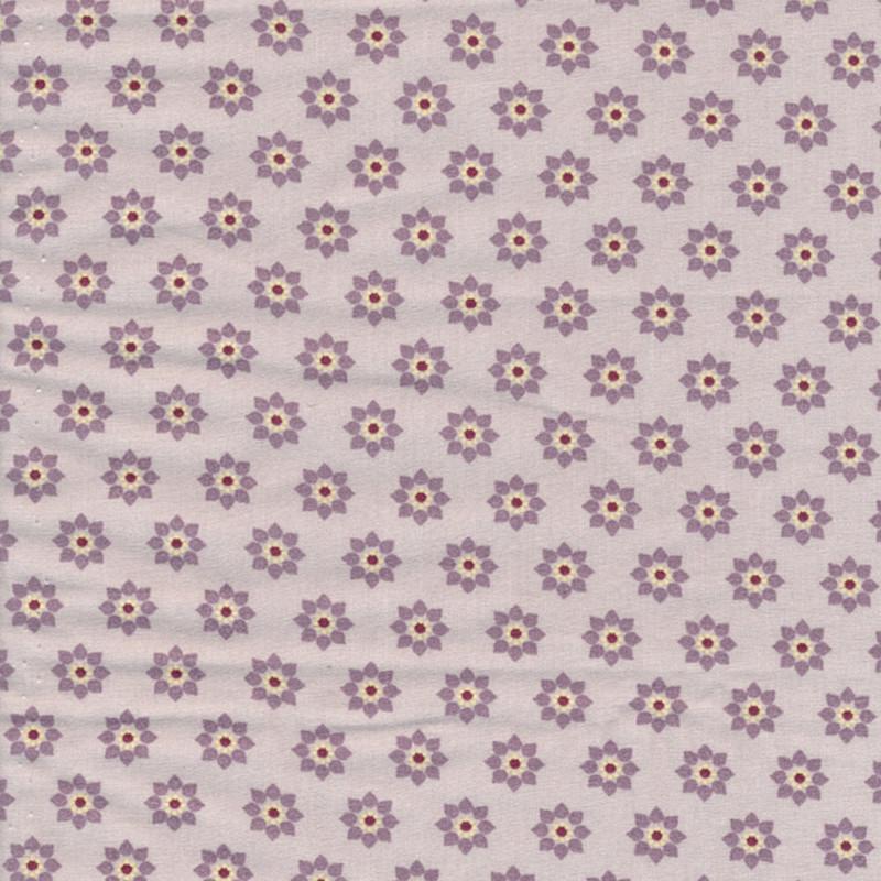 AU Maison Wachstuch Twiggy Lavender Dusty Violet Tischdecke aus Baumwolle beschichtet staubig lila mit Blumen 140 cm Meterware zum selber nähen