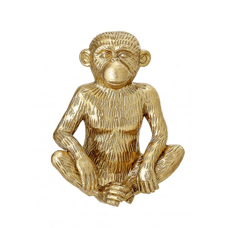 Bloomingville Affe gold Deko Figur sitzend