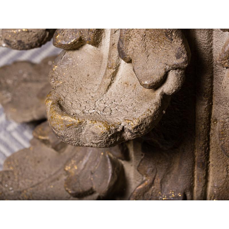 Bloomingville Beistelltisch Chateau rund extravaganter Tisch aus Metall Antikes Design Detail Material