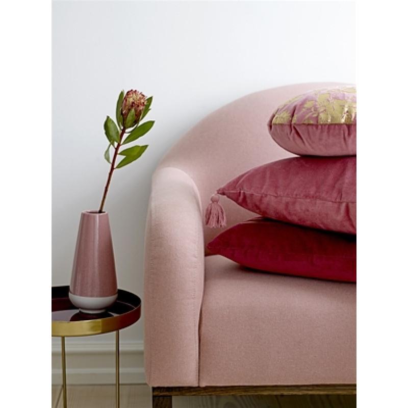 Bloomingville Beistelltisch gold rot mit Vase rosa aus Keramik