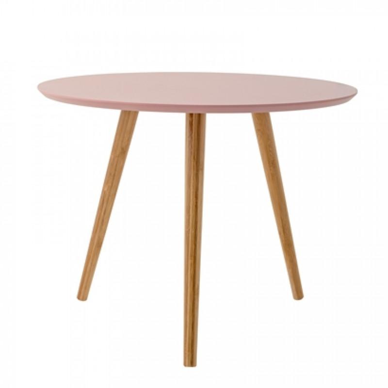 rosa beistelltisch aus bambus holz bloomingville. Black Bedroom Furniture Sets. Home Design Ideas