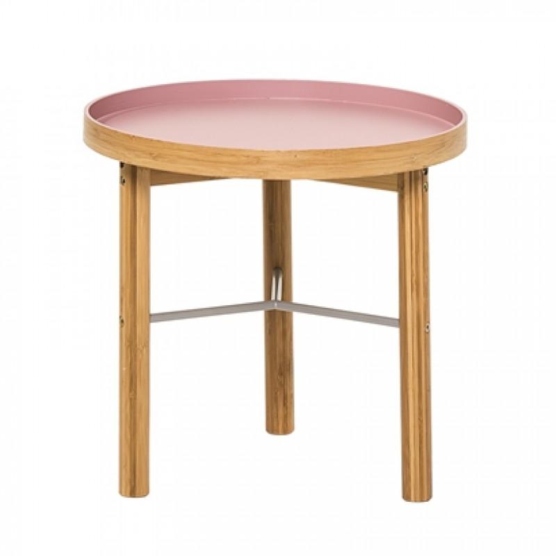 beistelltisch rosa im retro stil bloomingville. Black Bedroom Furniture Sets. Home Design Ideas