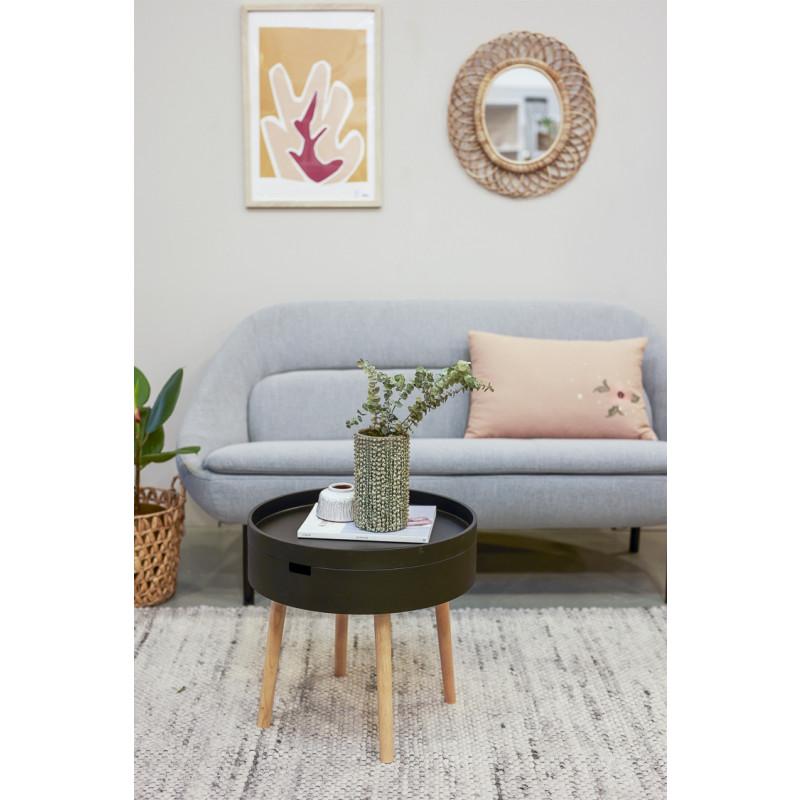 Bloomingville Beistelltisch Schwarz mit Stauraum modern Dekoration