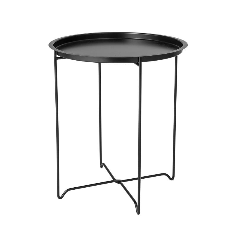 Bloomingville Beistelltisch Soon Schwarz aus Metall runder Tisch 45x50 cm