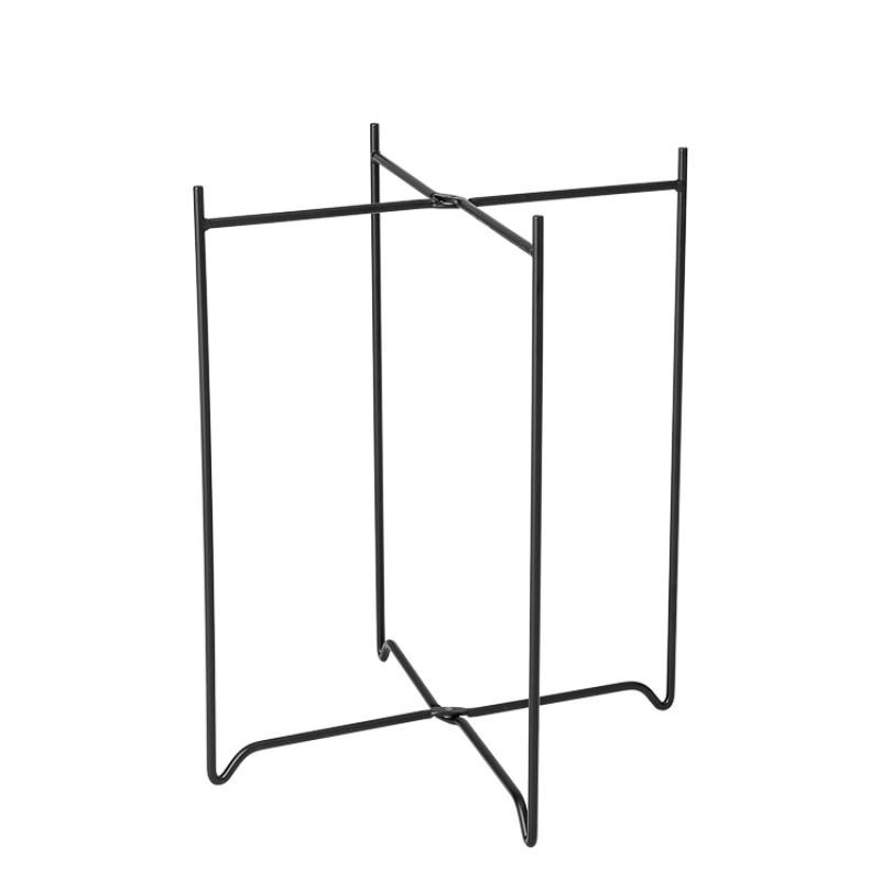 Bloomingville Beistelltisch Soon Schwarz aus Metall runder Tisch Gestell Detail