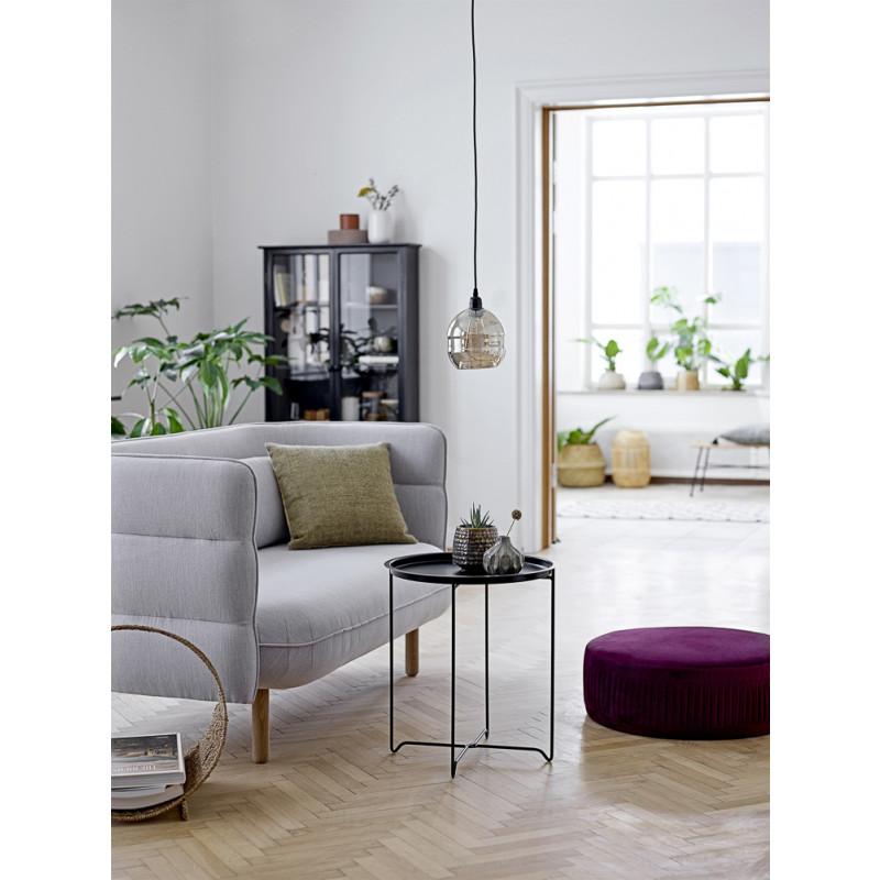Bloomingville Beistelltisch Soon Schwarz aus Metall runder Tisch modern Design Wohnzimmer