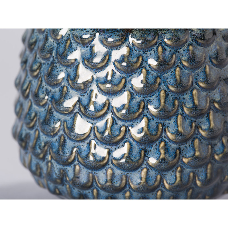 Bloomingville Blumentopf Grau Tropfen erhaben Struktur Detail Keramik