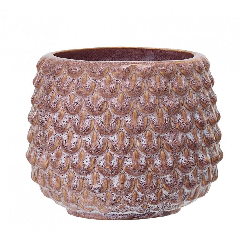 Bloomingville Blumentopf Rot Tropfen Struktur Keramik Übertopf Durchmesser 95 mm
