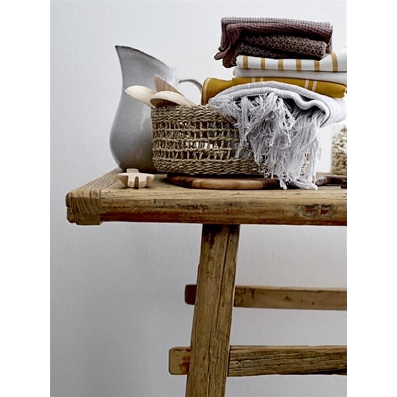 Bloomingville Brotkorb aus Seegras 25 cm mit Besteck und Decken