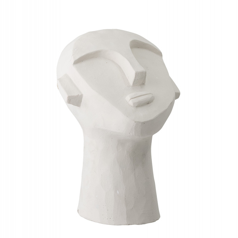 Bloomingville Büste Zement Skulptur Weiß Gesicht Deko Figur Höhe 22 cm Bloomingville Produkt Nummer 82047445