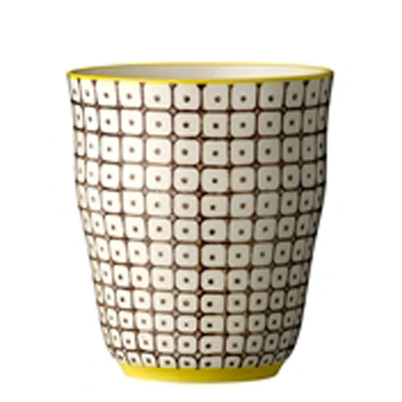 Bloomingville Carla Cup Becher ohne Henkel ca 9,5 cm groß in braun