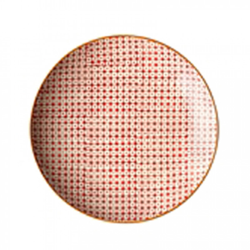 Bloomingville Carla Plate rot Kuchenteller ca 20 cm Durchmesser