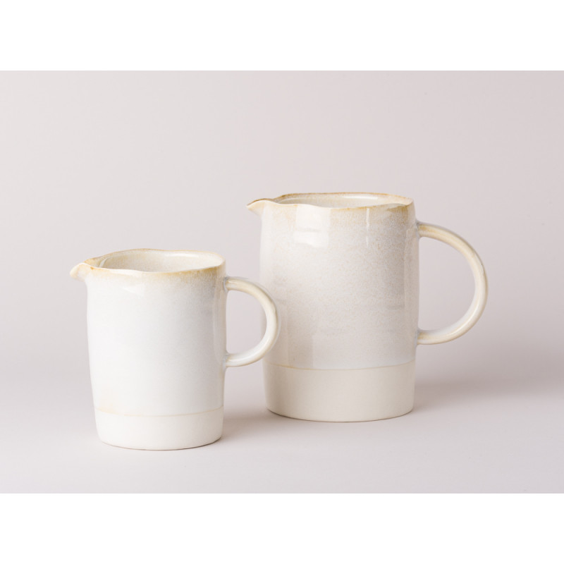 Bloomingville Carrie Kanne Krug Keramik klein und groß creme