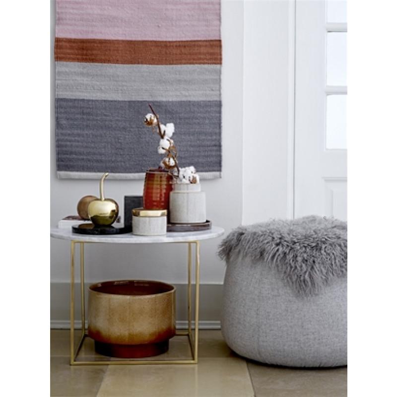gro e deko kirsche aus keramik gold bloomingville. Black Bedroom Furniture Sets. Home Design Ideas