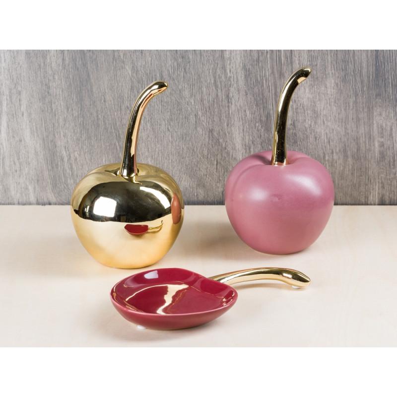 Gro e deko kirsche aus keramik gold bloomingville for Kirsche deko