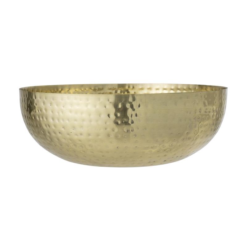 Bloomingville Deko Schale Gold aus Metall Schüssel 36 cm 9000 ml