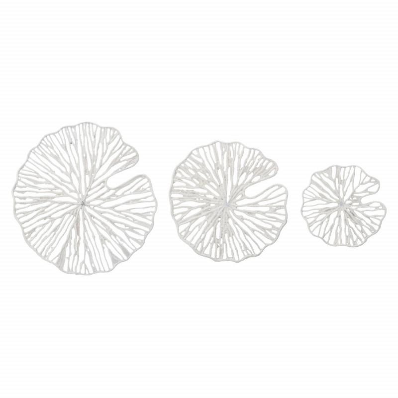 Bloomingville Deko Weiß 3er Set Metall für Wand Montage 30 50 cm groß