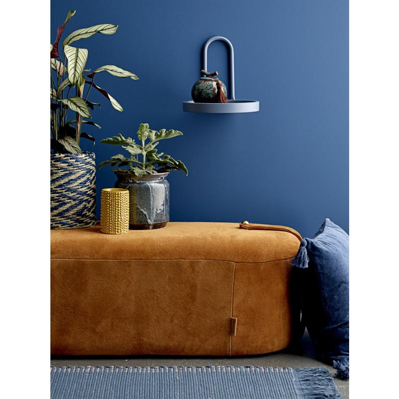 Bloomingville Dose mit Deckel Keramik Blau Sofa Dekoration