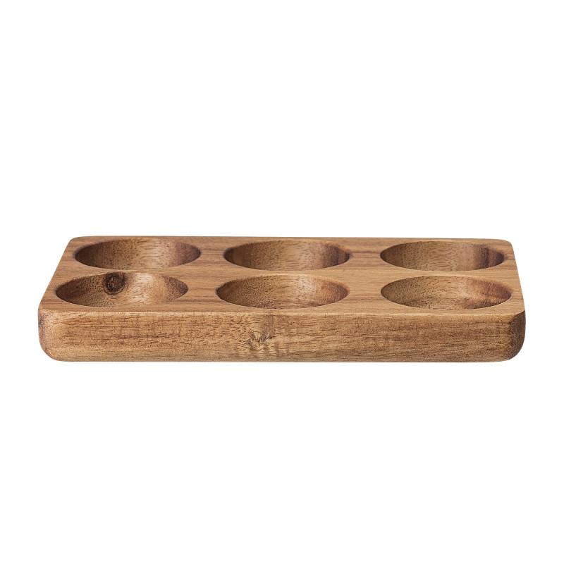 Bloomingville Eier Tablett für 6 Eier aus Akazien Holz