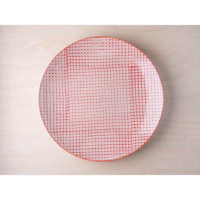 Bloomingville Essteller rot aus der Carla Geschirr Kollektion Teller aus Keramik Durchmesser ca 25 cm