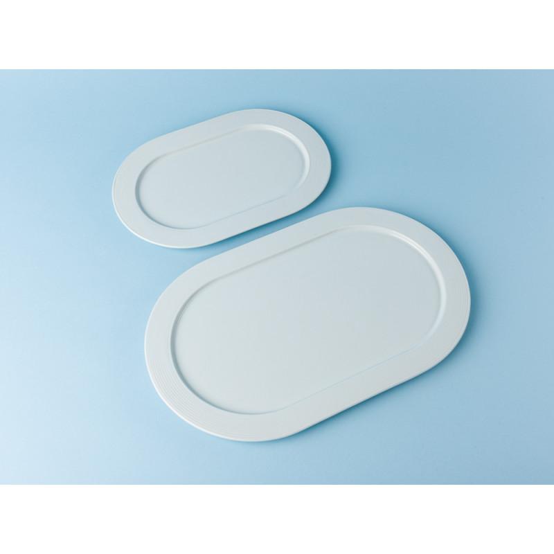 Bloomingville Geschirr Ice Teller oval weiß groß und kein Keramik Essteller eis blau Vergleich