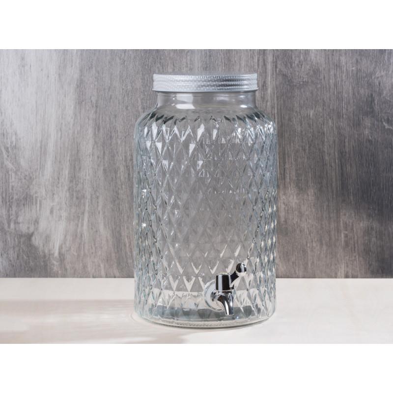 bloomingville getr nkespender aus glas mit zapfhahn und deckel mit schraubverschluss h he ca. Black Bedroom Furniture Sets. Home Design Ideas