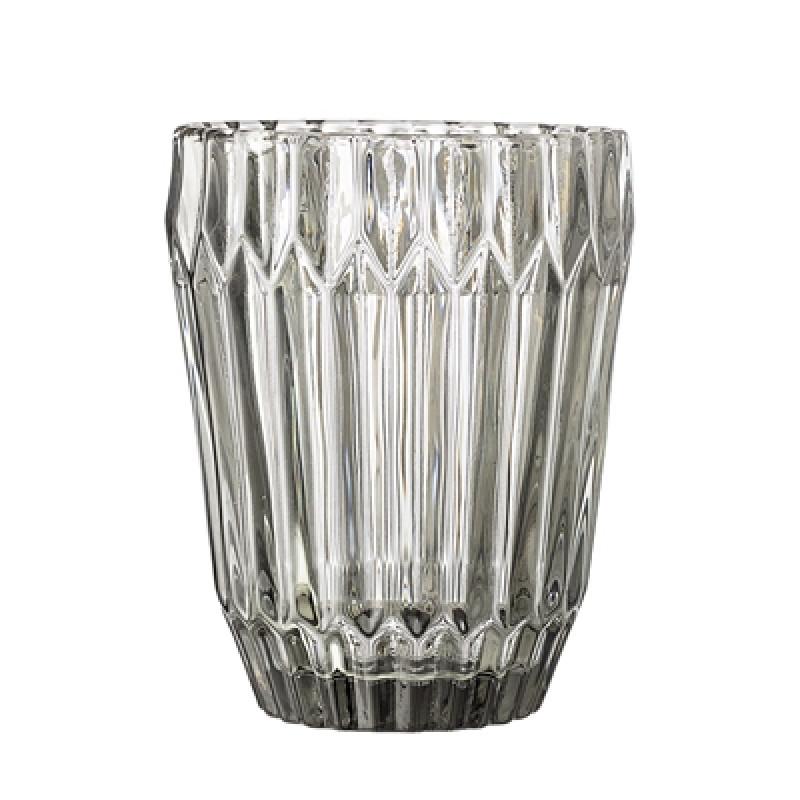 Bloomingville Glas Grau 230 ml Trinkglas