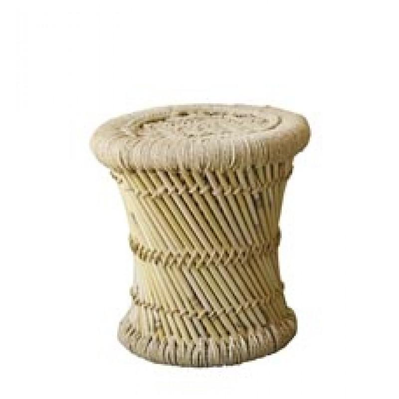 Bloomingville Hocker Terrain klein aus Bambus natur auch als kleiner Beistelltisch geeignet